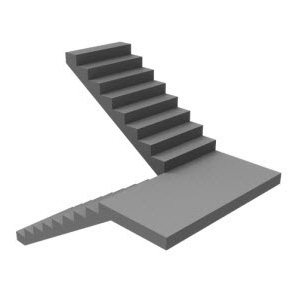 180 Double Bend Curved Staircase design