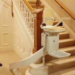 brooks curved stairlift operating remotely