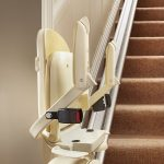 Brooks stairlift folded seat from Central Mobility