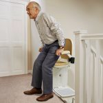 Brooks 180 curved stairlift with swivel seat function