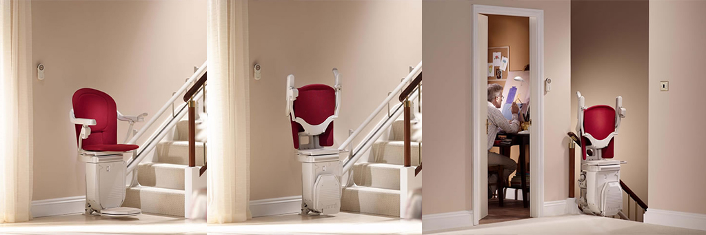 Reconditioned stannah curved stairlifts from Central Mobility