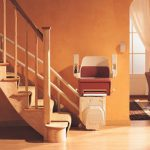stannah curved stairlift sarum seat folded