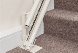 platinum curve curved stairlift drop nose from central mobility