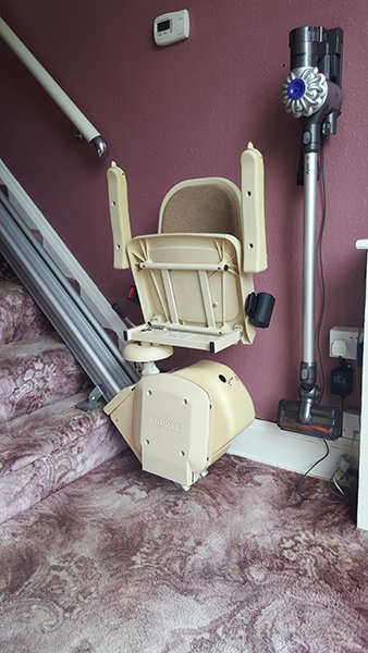 Brooks slimline straight stairlifts to rent from Central Mobility