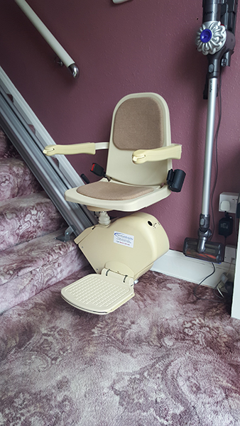 Brooks straight stairlifts to rent from Central Mobility