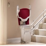 stannah curved stairlift sofia seat folded