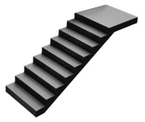straight staircase image for a straight stairlifts from Central Mobility