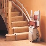 Reconditioned Stannah 260 curved stairlift folded