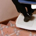 Bison bede compact straight stairlift footrest