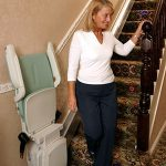bison bede compact straight stairlift folded