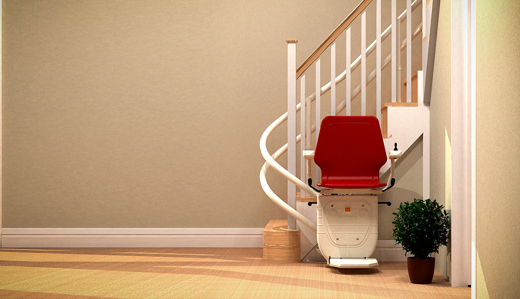 new and used straight and curved stairlifts to buy or rent from Central Mobility