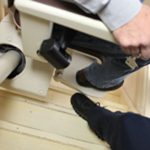 Freecurve footrest safety edge