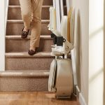 Acorn stairlifts fold away neatly