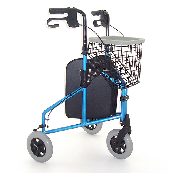 lightweight folding 3 wheeled tri-walkers