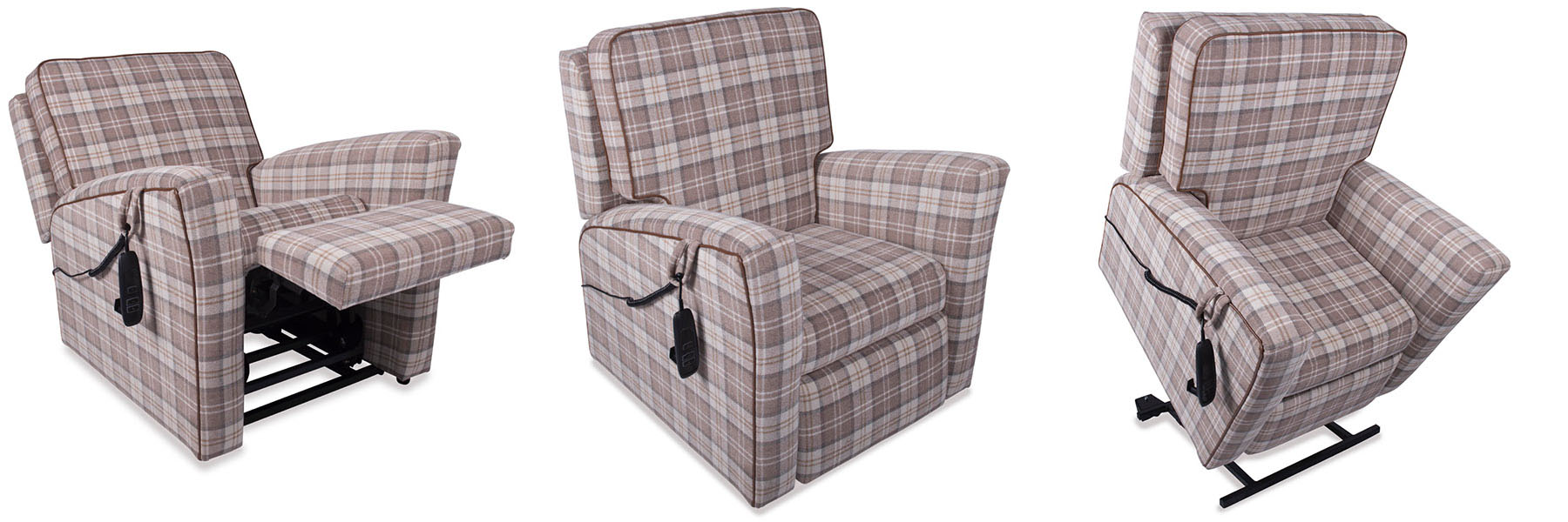 The Buckingham rise and recliner chairs