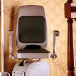 Bison bede classic straight stairlift seat swivel