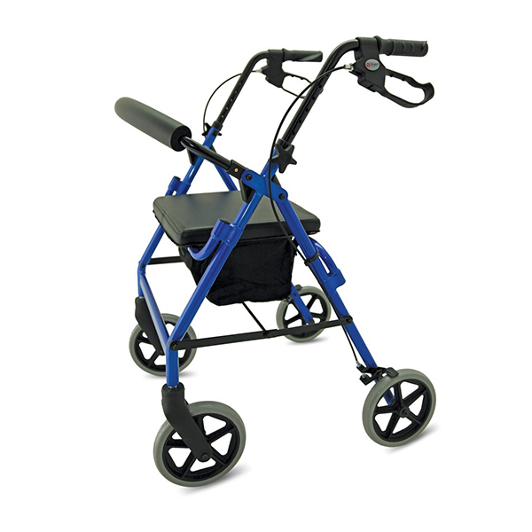 folding 4 wheeled rollators from Central Mobility
