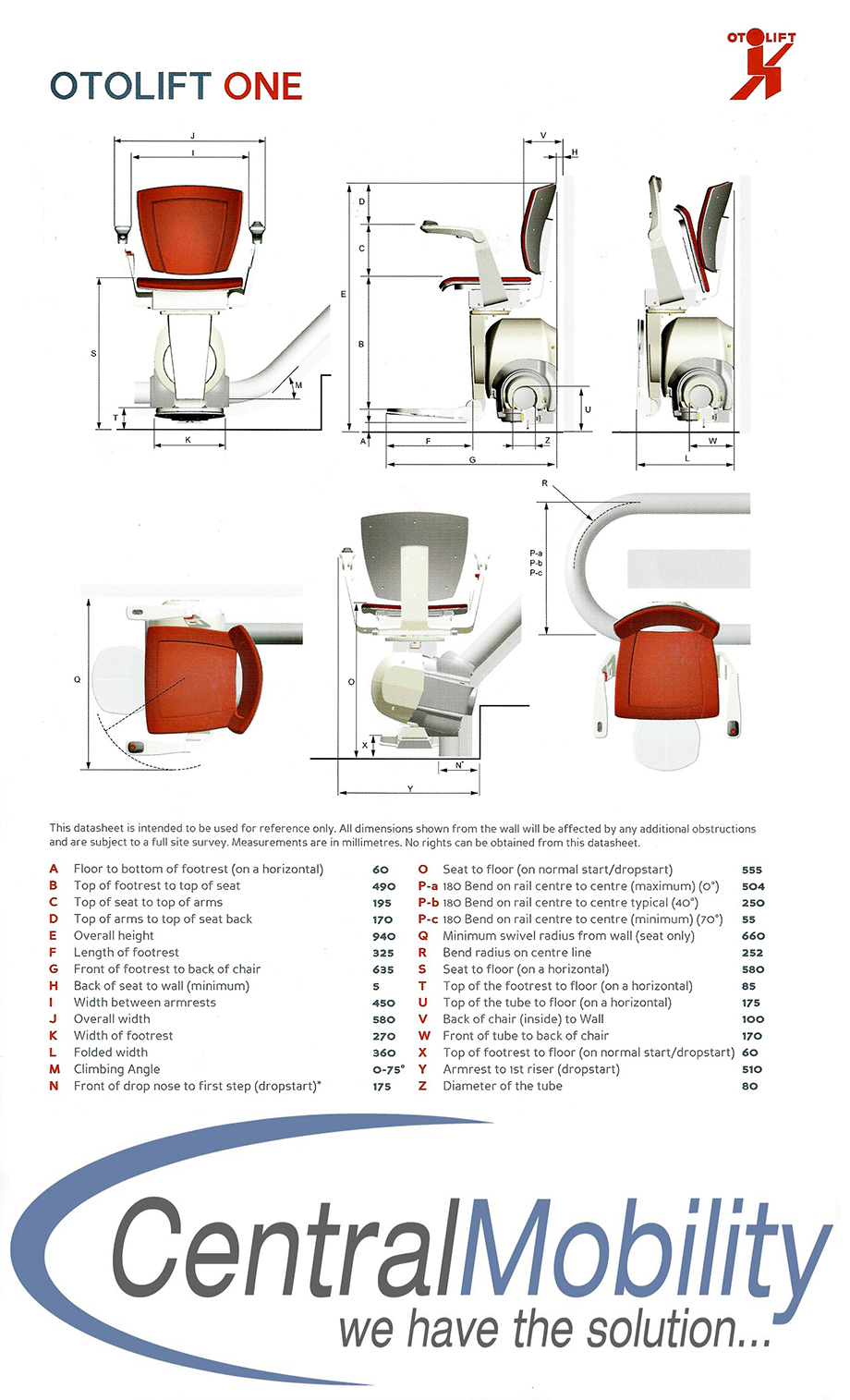 Otolift Dimensions Central Mobility