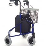 Lightweight aluminium blue 3 wheeled tri-walker from Central Mobility