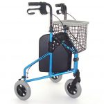 Lightweight aluminium frost blue 3 wheeled tri-walker from Central Mobility