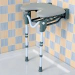 Folding shower seat from Central Mobility