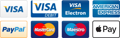 Central Mobility accept the following card payments