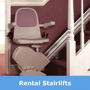 Rental staurlifts supplied in Leicester from Central Mobility