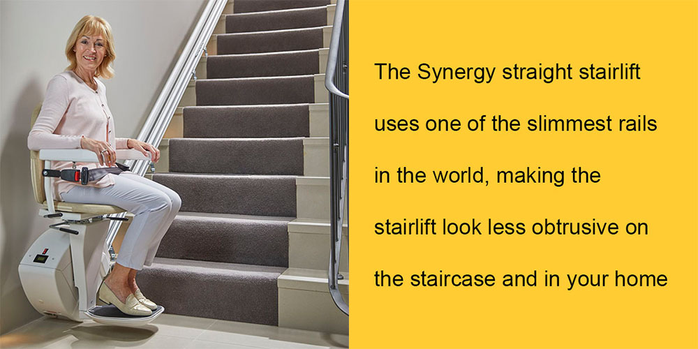 Bespoke Synergy From Central Mobility is the slimmest stairlift in the UK