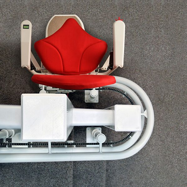 platinum curve curved stairlift 180 wrap bend from central mobility