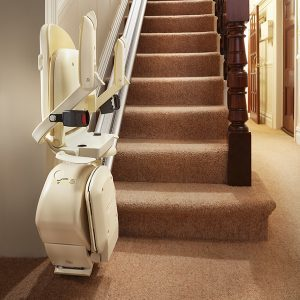 Brooks 130 straight stairlift folded from Central Mobility