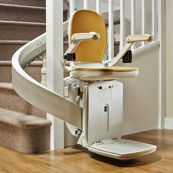 Brooks curved 180 stairlift from Central Mobility