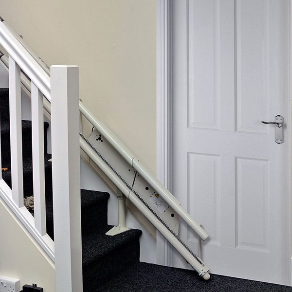 platinum curve curved stairlift hinge down from central mobility