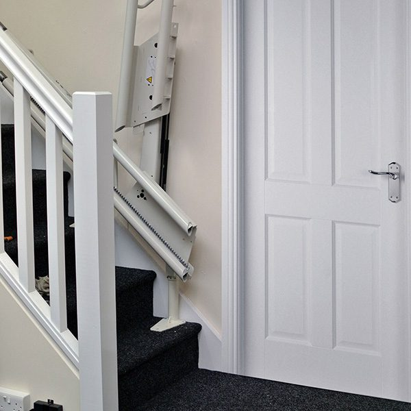 platinum curve curved stairlift hinge up from central mobility