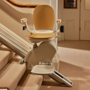 straight chair lift on straight staircase